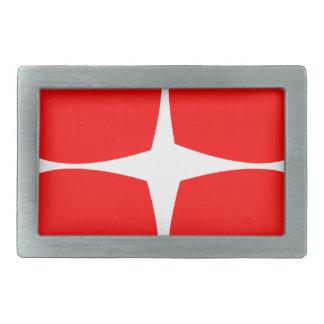 Red Hearts Rectangular Belt Buckles