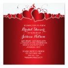Red Hearts Romantic Bridal Shower Card