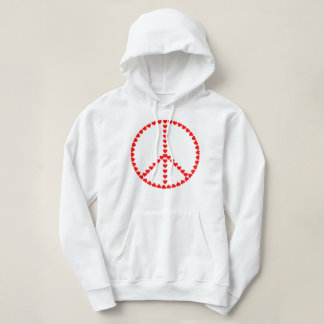 Red Hearts Round Peace Sign T-shirts