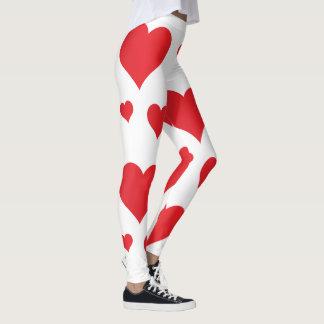 Red hearts super amazing design leggings