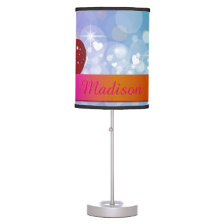 Red hearts table lamp
