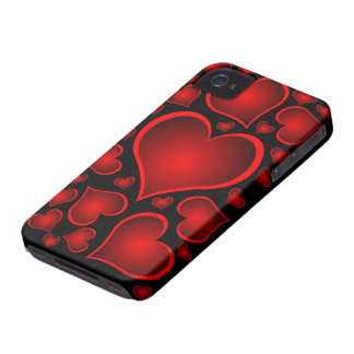 red hearts valentine iPhone 4 case