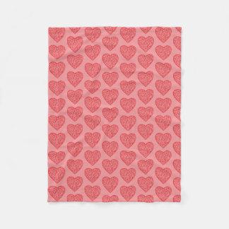 Red Hearts Valentine's/Love Fleece Blanket