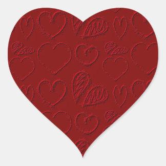 Red Hearts Valentine's Day Heart Sticker