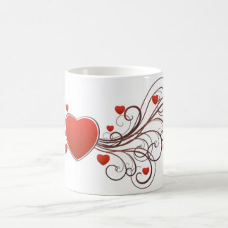red hearts vector art coffee mug
