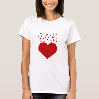 Red Hearts White Women's T-Shirt
