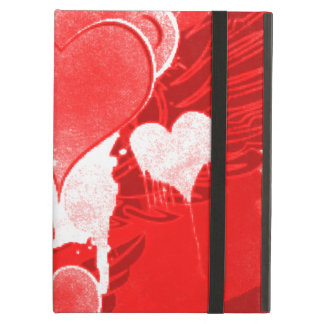 Red Hearts With Wings Cover For iPad Air