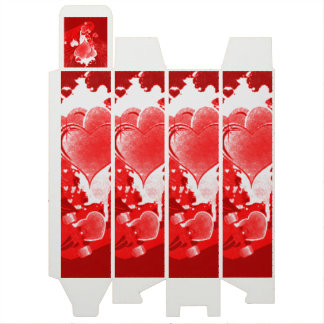 Red Hearts With Wings Wine Gift Box