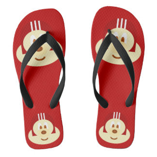 Red Helmet 鮑 鮑 - Adult Flip Flop