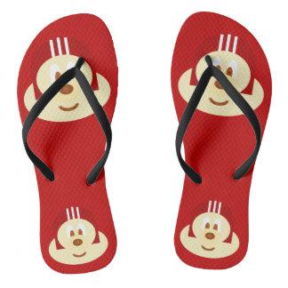 Red Helmet 鮑 鮑 - Adult Slim Flip Flop