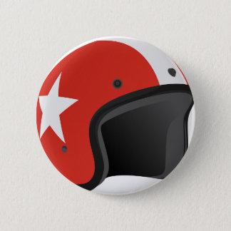 Red Helmet 2 Inch Round Button