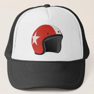 Red Helmet Trucker Hat
