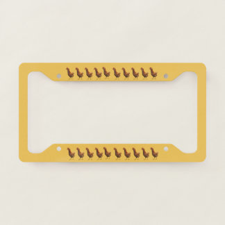 Red Hen Chicken License Plate Frame