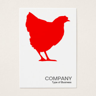 Red Hen Symbol 02 - White Business Card