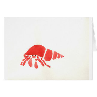 Red Hermit Crab Card
