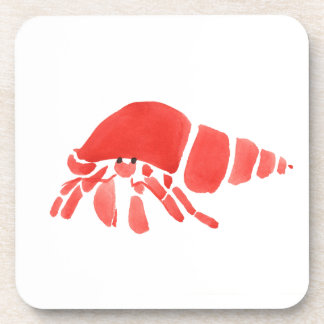 Red Hermit Crab Coasters