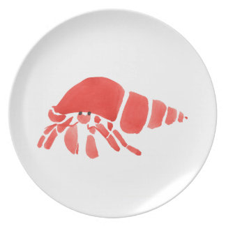 Red Hermit Crab Plate