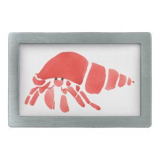 Red Hermit Crab Rectangular Belt Buckle