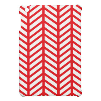 Red Herringbone iPad Mini Cover