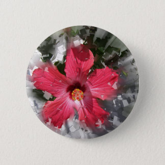 Red Hibiscus 2 Inch Round Button