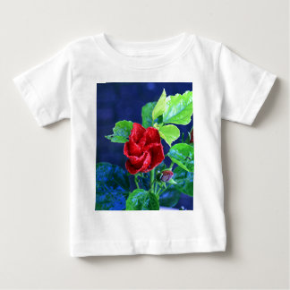 Red hibiscus after rain baby T-Shirt