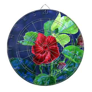 Red hibiscus after rain dartboards