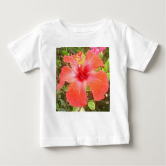 Red Hibiscus Baby T-Shirt