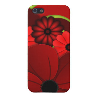 Red Hibiscus Floral iPhone 5 5S Case Savvy Matte Case For iPhone 5/5S