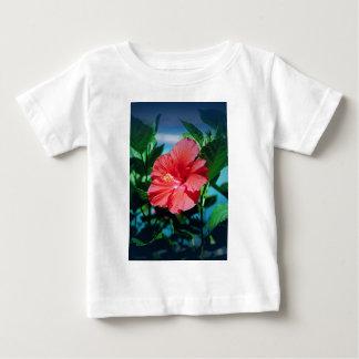 Red Hibiscus Flower Baby T-Shirt