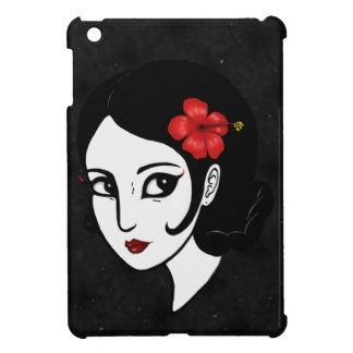 Red Hibiscus Flower (Burnt) iPad Mini Cover