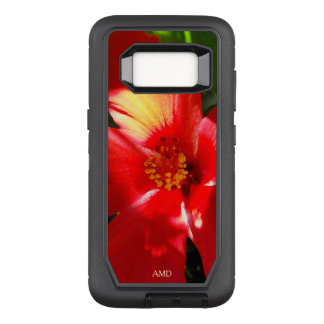 Red Hibiscus Flower in Sunlight OtterBox Defender Samsung Galaxy S8 Case