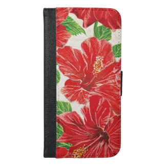Red Hibiscus iPhone 6/6s Plus Wallet Case