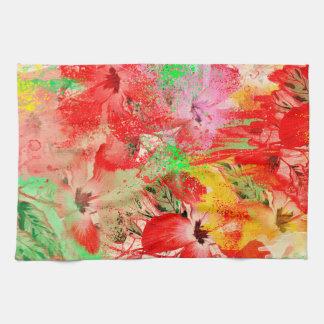 """Red Hibiscus Kitchen Towel 16"""" x 24"""""""