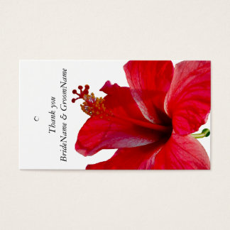 Red Hibiscus  Thank you Gift Tag