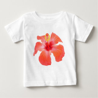 Red Hibiscus Vector Isolated Baby T-Shirt