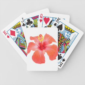 Red Hibiscus Vector Isolated Bicycle Playing Cards