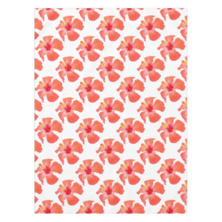 Red Hibiscus Vector Isolated Tablecloth