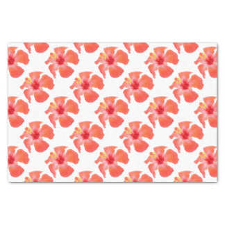 Red Hibiscus Vector Isolated Tissue Paper