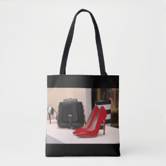 Red High Heel Shoes and Purses Tote Bag