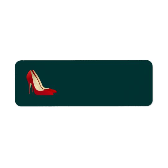 red high heel shoes label