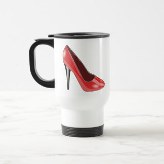 Red High Heel Travel Mug