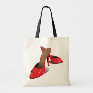 Red High Heeled Shoes Tote Bag