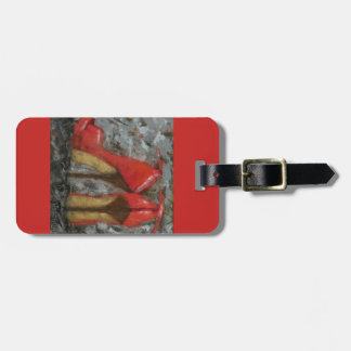 Red High Heels Luggage Tag