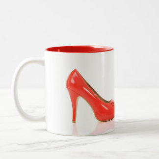 Red High Heels Mug with Complementary Color Inside