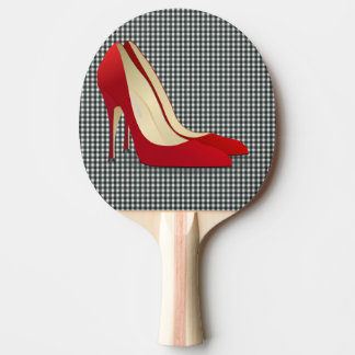 RED HIGH HEELS PING PONG PADDLE
