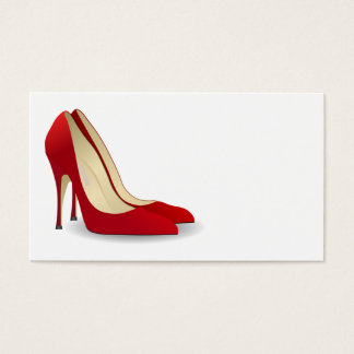 RED HIGH HEELS SHOES BUSINESS CARDS