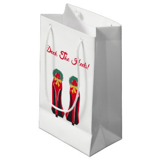 Red High Heels with Christmas Wreaths Small Gift Bag