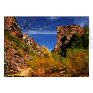 Red Hills Landscape, Subway, Zion NP, Blank Inside Card
