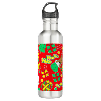 Red - Ho Ho Santa 710 Ml Water Bottle