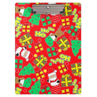 Red - Ho Ho Santa Clipboard